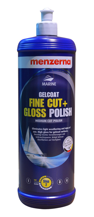 MENZERNA MARINE GELCOAT STEP 2 FINE CUT + GLOSS POLISH 1000 ml