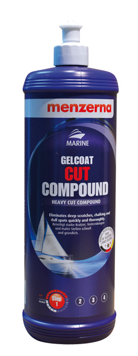MENZERNA MARINE GELCOAT STEP 1 CUT COMPOUND 1000 ml 10% Messerabatt